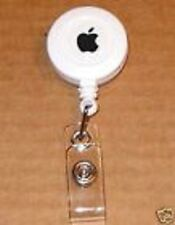White Apple Computer Logo Employee Badge Holder - NEW