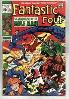 Fantastic Four #89-1969 vg Jack Kirby Mole Man