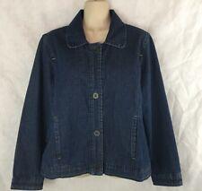 Christopher & Banks Denim Blue Jean Jacket Size M Cotton 4 Button