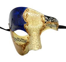 Phantom Opera Half Men Face Musical Collection Venetian Masquerade Blue Mask