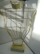 Vintage 1950's wire bust display stand