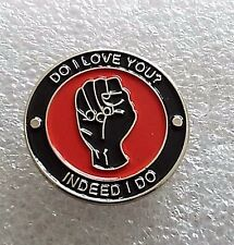 Do I Love You Indeed I Do motorcycle enamel pin / lapel badge Mods & Rockers SKA