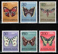 Yugoslavia 1964, Mi.#1069-1074**, Sc.#724-729**, butterflies, MNH!