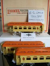 MTH Lionel Corp. 3-Car Std. Gauge Pullman Passenger Set- Lionel Lines (Orange)