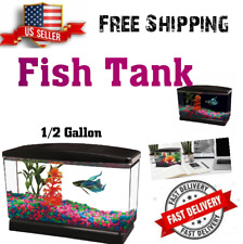 New listing New Aqua Culture Betta View Half Gallon Fish Tank With Base Easy Set-Up Maintain