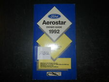 1992 Ford Aerostar Owner Guide 92 Manual