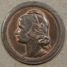 Portugal 1924 20 Centavos Glossy Brown Unc with some Red