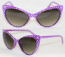 Cat Eye Sonnenbrille Pinup 50er Jahre z. Petticoat Kleid Polka Dots lila 570