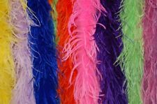 20 AVESTRUZ BOAS de pluma 2 capas VARIOS COLORES 183cm Disfraz/BURLESQUE/Arte /