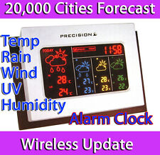 PRECISION AP038 4 DAY WIRELESS DIGITAL LED WEATHER FORECASTING UNIT ALARM CLOCK