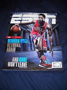 Derrick Rose Autographed Chicago Bulls ESPN Magazine Memphis Knicks/ JSA