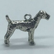 Terrier Dog Solid Sterling Silver Charm Aeredale Irish Welsh 3.5 Grams