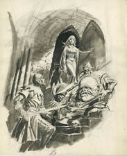 Eerie #42 Cover Preliminary Artwork (Original Art)  Luis Dominguez.
