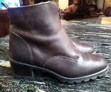 Womens Canada North Pret A Porter Brown Leather Boots sz 9