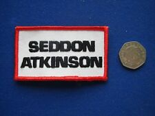 SEDDON ATKINSON - Sew/Stick on  Embroidered Cloth Badge/Patch    1980's