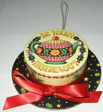 Mary Engelbreit Hat Trinket Box Ornament Be Warm Inside & Out Vintage 2001