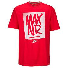 NIKE Max Air Tag T-Shirt sz 2XL XX-Large Red Grey Do It Roshe Zero JDI 90 95 NEW