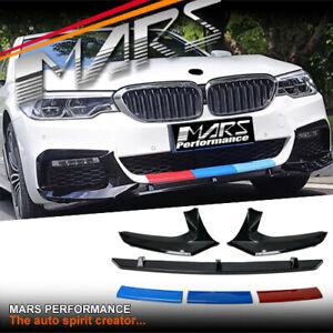 Bumper Splitters & Lip Spoiler & Colour Stripes for BMW 5-Series G30 G31 M Sport