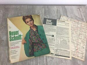 Der Neue Schnitt 1963 Nr 4 Modezeitschrift mit Schnittmuster, Anleitung