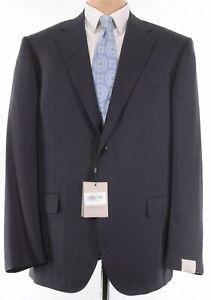 Corneliani NWT Suit Size 48R Charcoal Light Gray Small Plaid $1,895