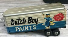 Vintage Tin Toy Truck Dutch Boy Paint Truck Trailer
