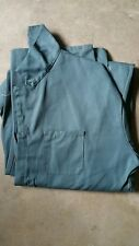 SIZE 60 REG X 31 COVERALLS; GREEN, 65/35% POLY/COTTON; LONG SLEEVES; PREOWNED
