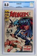Avengers #50 - Marvel 1968 CGC 8.0 Typhon, Zeus and Ares Appearance. Hercules le