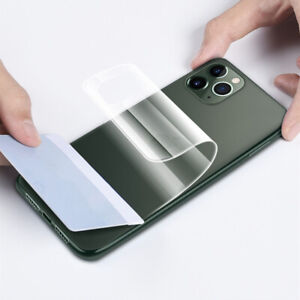 For iPhone 11 Pro Max Clear Front Back Full Coverage Screen Protector Soft Film