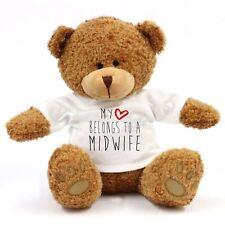 My Heart Belongs To A Midwife Large Teddy Bear - Gift, Work, Love