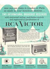 VINTAGE 1957 RCA ORTHOPHONIC RADIO ADVERTISING FLYER/BROCHURE! HI-FI RECEIVERS!