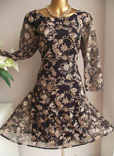 Monsoon 3/4 Sleeve Formal Plus Size Dresses for Women