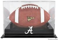 Alabama Crimson Tide Black Base Team Logo Football Display Case - Fanatics