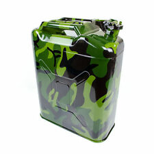CAMOUFLAGE GREEN NATO JERRY CAN 5 GALLON BACKUP STEEL FUEL GAS TANK WITH SPOUT
