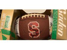 Stanford autographed football Bill Walsh, James Lofton, Bill McColl, Bob Murphy