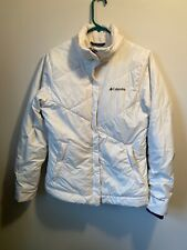 Columbia Down Jacket Women's Medium White Quilted Down Like Insulated Jacket
