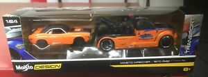 Maisto Design Elite Transport ORANGE Wrecker 1970 Dodge Challenger R/T🔥🔥🔥