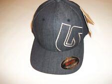 Burton Slidestyle Flexfit Dark Blue Denim Hat Ball Cap Mens OSFA One Size