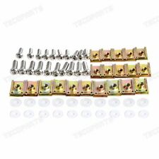 10 Set M5 M6 Speed Spire Clip U Nut Fairing Bolts Screws Washers Motorcycles