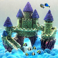 Resin Simulation Castle Model Aquarium Fish  Landscape Decoration DEL