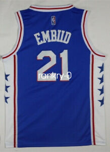 Mens Philadelphia 76ers #21 Joel Embiid NEW Swingman Jersey Blue