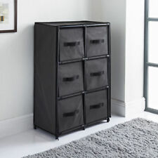 Canvas ''6'' Chest Of Drawer Bedroom Furniture Storage Cabinet Unit Organiser