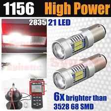 2X 6000K Bright White 1156 BA15S 1000LM 50W RV Trailer Interior 12V LED Lights