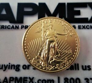 2013 Five Dollar Liberty American Eagle 1/10 Oz Fine Gold Uncirculated Coin
