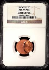 No Date Lincoln Cent certified Off Center Mint Error by NGC! sku 088