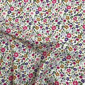 Rose & Hubble 100% Cotton Fabric - Ditsy Floral Birds  - CP0803 Pink - UK SELLER