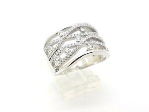BEAUTIFUL 925 STERLING SILVER HANDMADE WHITE TOPAZ WOMEN'S RING SIZE 7.75 USA