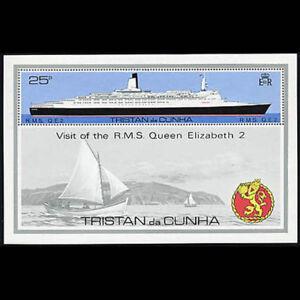 Tristan da Cunha, Sc #259, MNH, 1979, S/S, Ships, QE II, AR6FDD-H