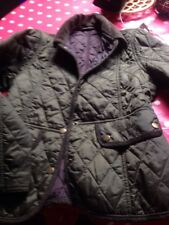 Age 10-11 Barbour Jacket In Quilted Gree