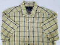 ExOfficio Mens Large L Short Sleeve Plaid Button Up Camp Hiking Outdoor Shirt