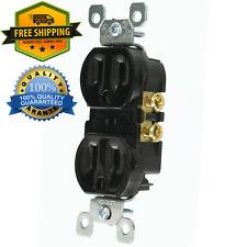 Black Tamper Residential Electrical Duplex Receptacle Outlet-Plug 125 Volt 15Amp